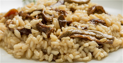 Foto Risotto funghi met spekjes